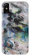 Abstract Flower Field Painting Blue Pink Green Purple Black Landscape Painting Modern Acrylic Pastel IPhone Case