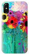 abstract - flowers- Flower Power Four IPhone Case