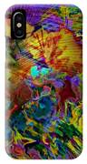 Abstract Fronds In Jewel Tones - Square IPhone Case