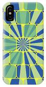 Abstract Geometric Blue IPhone Case