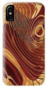 Abstract Gold 3 IPhone Case