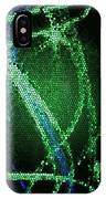 Abstract Green IPhone X Case