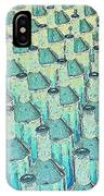 Abstract Green Glass Bottles IPhone Case