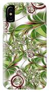 Abstract Green Plant IPhone Case