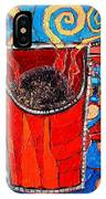 Abstract Hot Coffee In Red Mug IPhone Case