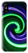 Abstract In Green And Purple IPhone Case