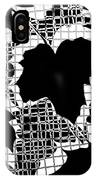 Abstract Leaf Pattern - Black White Grey IPhone Case