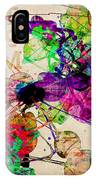 Abstract Mixed Media IPhone Case