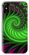 Abstract Neon Colors Fractal IPhone Case