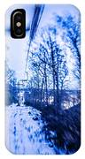 Abstract On A Ski Lift IPhone Case