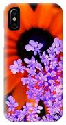 Abstract Orange And Purple Flower IPhone Case