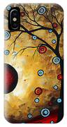 Abstract Original Gold Textured Painting Frosted Gold By Madart IPhone Case
