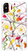 Abstract Pen Drawing Fifty-five IPhone Case