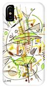 Abstract Pen Drawing Fifty-seven IPhone Case