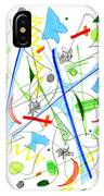Abstract Pen Drawing Fifty-three IPhone Case