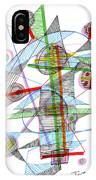 Abstract Pen Drawing Forty-nine IPhone Case