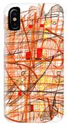 Abstract Pen Drawing Sixty-one IPhone Case