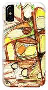 Abstract Pen Drawing Sixty-three IPhone Case
