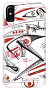 Abstract Pen Drawing Thirty-nine IPhone Case