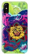 Abstract Peonies IPhone Case