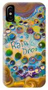 Abstract Rain Drop IPhone Case