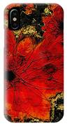 Abstract Red Flower Art  IPhone Case