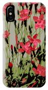 Abstract Red Flowers IPhone Case