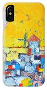 Abstract Santorini - Oia Before Sunset IPhone Case