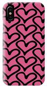 Abstract Seamless Heart Pattern IPhone Case
