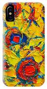 Abstract Sunflowers IPhone Case