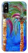 Abstract Venice Palms IPhone Case