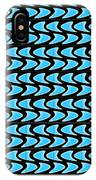 Abstract Waves On A Black Background IPhone Case