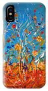 Abstract Wildflowers IPhone Case