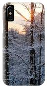 Abstract Winter Sunset IPhone Case