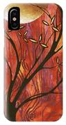 Abstract Wood Pattern Painting Original Landscape Art Moon Tree By Megan Duncanson IPhone Case
