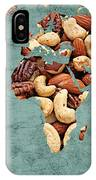 Abstract World Map - Mixed Nuts - Snack - Nut Hut IPhone Case