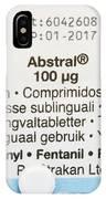 Abstral Painkiller Drug IPhone Case