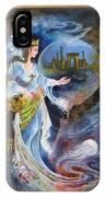 Achaemenian Lady Persian Miniature Painting  IPhone Case