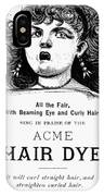 Acme Hair Dye Ad, C1890 IPhone Case
