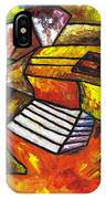 Acoustic Guitar On Artist's Table IPhone Case