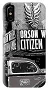 Actor Co-writer Director Orson Welles Premier  Citizen Kane Palace Theater New York  May 1 1941-2014 IPhone Case