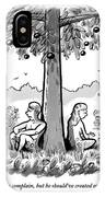 Adam And Eve Sit Back To Back Against A Tree IPhone X Case