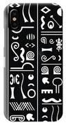 Adinkraglyphics IPhone Case