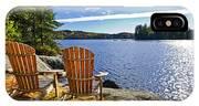 Adirondack Chairs At Lake Shore IPhone Case