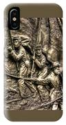 Advancing The Colors - State Of Delaware Monument Gettysburg Detail-a Autumn Mid-day IPhone Case