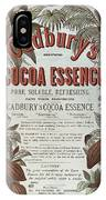 Advertisement For Cadburs Cocoa Essence From The Graphic IPhone Case