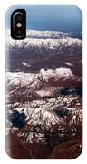 Aeial View Of The Snowy Mountains IPhone Case