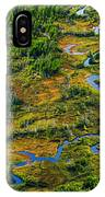 Aerial Of A Wetland, Over Northern IPhone Case