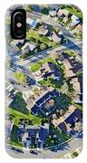 Aerial Pattern Of Residential Homes IPhone Case