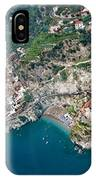 Aerial View Of A Town, Atrani, Amalfi IPhone Case
